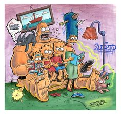 Homer the Couch by MisterBZD.deviantart.com on @DeviantArt