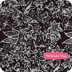Black Magic Batiks Black Floral Tapestry Yardage SKU# K2446-4 - Fat Quarter Shop