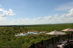 Relax, unwind and enjoy the magnificent views from the Victoria Falls Safari Lodge pool area.