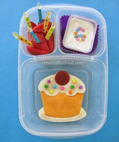 Birthday Bento School Lunch!-  packed in @EasyLunchboxes