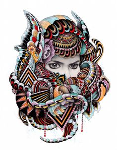 London based illustrator Iain Macarthur's creates an amazing portraits by using pencil, watercolors and pigment pens. Iain Macarthur's artwork is astonishing and is in such huge demand that he's be… Doodles Zentangles, Doodle Art Drawing, Art Drawings, Pop Art Illustration, Cardboard Art, Amazing Drawings, Sketch Painting, Creative Portraits, Old Art