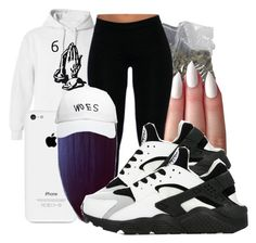 """6 God"" by honey-cocaine1972 ❤ liked on Polyvore featuring NIKE and October's Very Own"