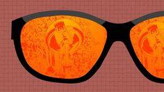 Aurinkolasit joista heijastuu valvontakamera, grafiikka. Facebook, Frame, Midget Man, Picture Frame, Frames