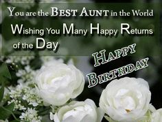 Birthday wishes for Aunty – Birthday wishes, images and messages