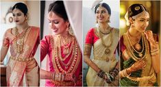 Ultimate Jewellery Guide To Be The Perfect South Indian Bride! Saree Gown, Sari Dress, Anarkali Dress, South Indian Bride, Indian Gowns, Indian Outfits, Golden Lehnga, Saree Accessories, South Indian Bridal Jewellery