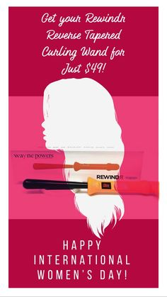 For Women's Day, get your Rewindr Reverse Tapered Curling Wand for just $49! Curling Hair With Wand, Long Lasting Curls, Happy International Women's Day, Happy Woman Day, Romantic Beach, Hot Tools, Types Of Curls, Wand Curls, Beach Waves