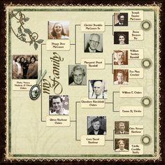 family trees scrapbook ideas - Google Search