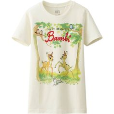 UNIQLO Women Disney Project Short Sleeve Graphic T-Shirt featuring polyvore, fashion, clothing, tops, t-shirts, off white, graphic print t shirts, uniqlo t-shirts, graphic t shirts, short sleeve tees and graphic design tees