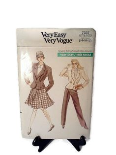 Vogue Pattern 7337 Couture 80's by WeeLambieVintage on Etsy, $10.00