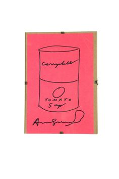 CAMBELL'S TOMATO SOUP BY ANDY WARHOL , garths.com European Paintings, Fine Art Auctions, Tomato Soup, Andy Warhol, American, Tomato Soup Recipes