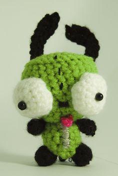 Invader Zim Gir crochet amigurumi