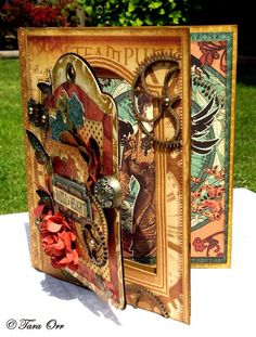 A beautiful card using Steampunk Debutante by Tara Orr! #graphic45 #Cards