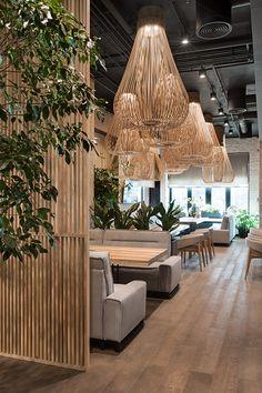 Decoration Restaurant, Deco Restaurant, Bamboo Restaurant, Hotel Lounge, Concept Restaurant, Tatami Room, Maze Design, Restaurant Interior Design, Japanese Restaurant Interior