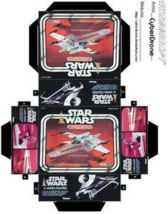 Mini X-Wing Fighter Toy Box