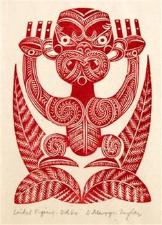 Access more artwork lots and estimated & realized auction prices on MutualArt. Graphic Prints, Graphic Art, Maori Patterns, Polynesian Art, Maori Tattoo Designs, Nz Art, Maori Art, Kiwiana, Wood Engraving