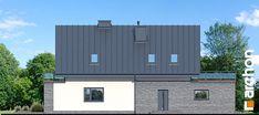 Dom w czermieni Model House Plan, House Plans, Model Homes, Garage Doors, Multi Story Building, Outdoor Structures, Outdoor Decor, Design, Home Decor