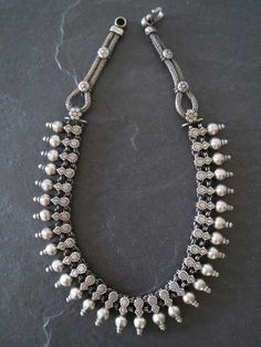 Vintage Ethnic Tribal Old Silver Necklace by GEMILAJewels on Etsy