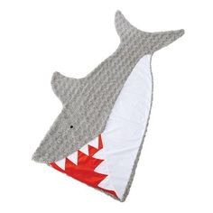 Clever pillowcase style slide-inside shark blanket opens at mouth and features swirl, dot and flat minky accents. Size: x Shark, Shark Blanket, Kids Blanket Shark Tail Blanket, Mermaid Tail Blanket, Kids Blankets, Childrens Beds, Mud Pie, Great Christmas Gifts, Sleeping Bag, Book Gifts, Summer Fun