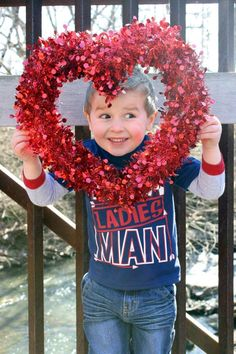 Cute Valentine photo idea for toddler! Bought this in the craft department at Walmart, very cheap.
