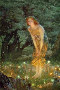 My favorite painting.  Midsummers Eve by Edward Robert Hughes#Repin By:Pinterest++ for iPad#