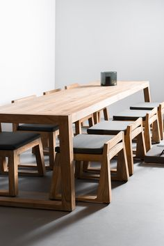 The Executive - Conference Table from Reclaimed Oak and Modern Industrial Metal Base Modern Wood Furniture, Table Furniture, Furniture Making, Home Furniture, Furniture Design, Handmade Wood Furniture, Diy Dining Table, Table And Chairs, Woodworking Furniture