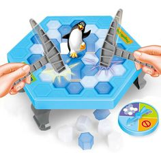 Puzzle Board Game - Penguin Trap Game Ice Breaking Save the Penguin - Paternity Interactive Board Game Sports Games For Kids, Family Fun Games, Board Games For Kids, Family Kids, Funny Toys, Funny Games, Sierra Leone, Game Ice Breaking, Save The Penguin