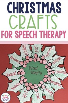Art therapy activities social workers This post includes 4 Christmas crafts for speech therapy Speech Therapy Themes, Speech Activities, Speech Language Pathology, Speech Therapy Activities, Language Activities, Speech And Language, Articulation Therapy, Therapy Games, Therapy Tools