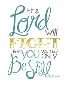 ♥ Exodus 14;14 ~ The LORD will fight for you, you need only be still