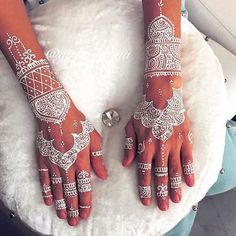 Brides in India almost always decorate like this their hands…