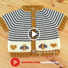 Let's learn together your own fashion accessories, basic and other creative points, techniques and tips to learn or develop the art of crochet and kni. Moda Emo, Baby Vest, Types Of Food, Baby Sweaters, Baby Knitting Patterns, Suits You, Mom And Dad, Fashion Accessories, Dressing