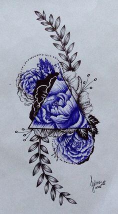 27 ideas for mexican folk art tattoo flowers Tiger Head Tattoo, Head Tattoos, Body Art Tattoos, Tattoo Drawings, Art Drawings, Floral Tattoo Design, Flower Tattoo Designs, Flower Tattoos, Dibujos Tattoo