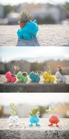 Bulbasaur planters by Anqi Chen Pokemon printing home decor plant life creative planters kids room ideas Impression 3d, 3d Pokemon, Pokemon Decor, Pokemon Room, Pokemon Super, Pokemon Bulbasaur, Stylo 3d, 3d Printing Diy, 3d Printer Designs
