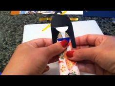 Boneca japonesa de origami Magali da Silva