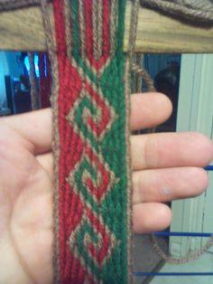 Here's me playing with yarn and the Ram's Horn Spiral. Inkle Weaving, Inkle Loom, Card Weaving, Tablet Weaving, Ram Horns, Lana, Spiral, Macrame, Mandala