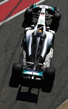 Lewis Hamilton of Great Britain driving the (44) Mercedes AMG Petronas F1 Team Mercedes F1 WO8 in the Pitlane  during day three of Formula One winter testing at Circuit de Catalunya on March 9, 2017 in Montmelo, Spain.