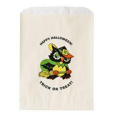 Funny Owl Halloween Party Custom Treat Bags - craft supplies diy custom design supply special
