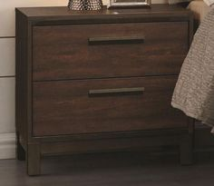 ONE IN STOCK - Tobacco Nightstand: L 23.5 X W 15.75 X H 23.25; Rent $14; Buy $99