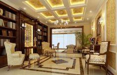 Luxury yellow study villa