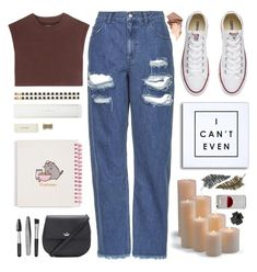 """I can't even.. "" by itaylorswift13 ❤ liked on Polyvore featuring Topshop, adidas Originals, Kate Spade, Pusheen, Sephora Collection, Converse, Urban Decay, WALL, Frontgate and Paperself"
