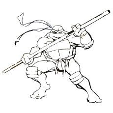 Tmnt Donatello With Weapon Bo Coloring Page Coloring Pages