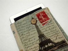 Eiffel ipad mini or 8 inch Custom Tablet case ipad Mini Retina Sleeve, iPad Mini Case,Kindle Fire case, Paperwhite cover, Galaxy Note, by RCRAFTSS on Etsy
