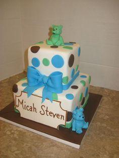 Bears baby Shower Cake