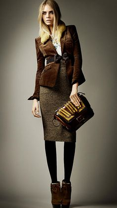 Burberry Prorsum Autumn/Winter 2012 Coururoy Hacking Jacket