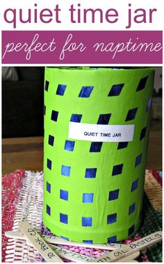 Use an activity jar to help older siblings stay quiet during naptime.
