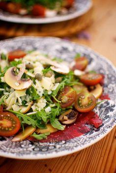 Receta de 'carpaccio con setas y rúcola' de Pepekitchen para el blog 'A tu Gusto' de superSol. La mejor gastronomía :)