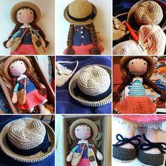 Berta Vergara Santos/ katxirula.blogspot.com MUÑECAS TEJIDAS 100% algodón.