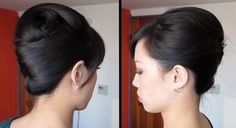 French twist tutorial - this would be pretty for bridesmaids! It's simple, pretty and keeps the hair out of your face!
