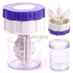 Latest New Manually Contact Lens Cleaner Washer Cleaning Lenses Case -- BuyinCoins.com