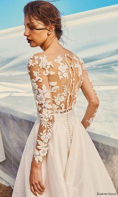 elbeth gillis milk honey 2017 bridal separates illusion long sleeves wedding dress (tara top scarlet skirt) zbv