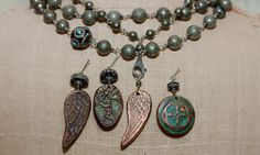Great new designs by Whitney Beads  Copper Angel Wings